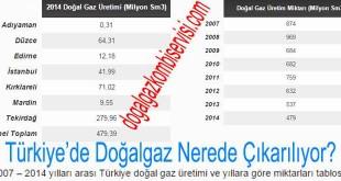 Türkiye'de Doğalgaz Nerede Çıkarılıyor